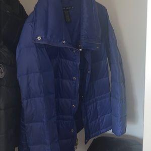 Blue puff coat